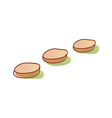 The stepping-stone vector image vector image