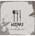 menu vintage abstract grunge background vector image