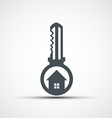 icons key with a house vector image vector image
