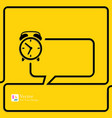 Clock Alarm Icon Speech Bubbles and Chat symbol vector image