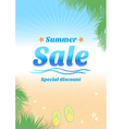 Summer holiday sales background poster vector image