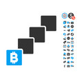 bitcoin blockchain icon with free bonus vector image