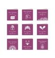 Christmas Mini Cards Set vector image