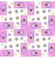 cute owl card Baby girl arrival vector image