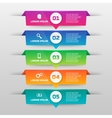 infographics template with five options in vector image