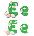 letter E egg vector image