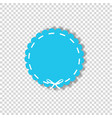 light blue circle seal stamp wrapped with white vector image