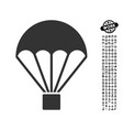 parachute icon with job bonus vector image