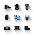 photo equipment icons vector image