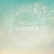 Phrase Hello Summer on grunge blue background vector image