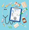 set medicinal icons vector image