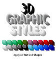 Set of 3d Graphic Styles vector image