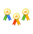 Set of Gold Medals vector image