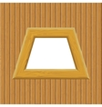 Wooden Framework on a Wall vector image