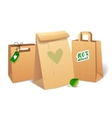 Shopping bags that save the environment vector image