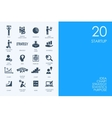 Set of BLUE HAMSTER Library startup icons vector image