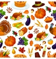 Thanksgiving holiday colorful seamless pattern vector image vector image