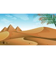 A landscape at the desert vector image