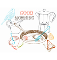 good morning background vector image vector image