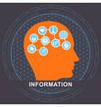 information communication concept vector image