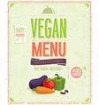 Vegetaruan vector image