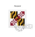 State of Maryland flag postage stamp vector image