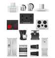 set of kitchen appliances 03 vector image vector image