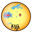 button Fiji vector image vector image