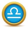 Gold Libra icon vector image