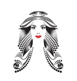 Beautiful fantasy woman vector image