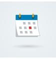 calendar icon Simple flat vector image