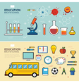 education and back to school banner concept flat d vector image