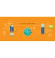 Global Storage Design Flat Concept vector image