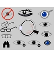 icons on the topic of eyes vector image
