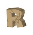 letter r stone font rock alphabet symbol stones vector image
