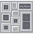 Set of white and grey frames for your design needs vector image