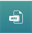 WAV audio file extension icon vector image