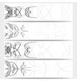 Web banners set pinstripe design header layout vector image