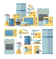 Modern kitchen appliances set vector image