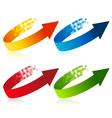 Pixel Arrow Symbols vector image