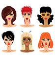 set of woman portraits vector image