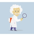 Funny Albert Einstein Cartoon Portrait Isolated vector image