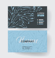 business cards with web pattern design vector image
