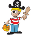 Cartoon Pirate Boy vector image