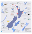Dot And Flag Map Of New Zealand Infographic Design vector image