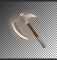 fantasy medieval tomahawk isolated game element vector image