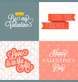 happy valentine day with background vector image