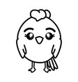 isolated cute standing chicken vector image