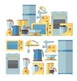 Modern kitchen appliances set vector image