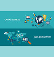 online business and web development vector image